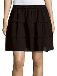 Iro Bell Solid Layered Skirt Black