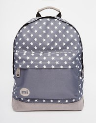 Mi Pac All Stars Backpack In Charcoal With Block Pocket Charcoal Grey