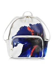 Dsquared Alberta White Coated Canvas Backpack