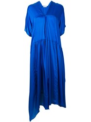 Christian Wijnants Oversized Dress Women Silk 38 Blue