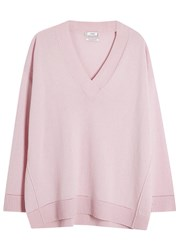 Vince Light Pink Pointelle Cashmere Jumper