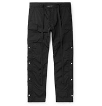 Fear Of God Black Slim Fit Shell Drawstring Cargo Trousers Black