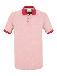 Racing Green Cartel Stripe Polo Red
