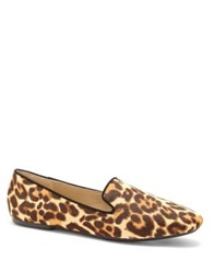 Enzo Angiolini Leonie Calf Hair Smoking Loafer Natural