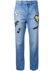 Muveil 'Jurassic' Jeans Blue