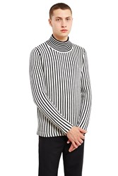 Acne Studios Klee Striped Sweater Black White