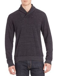 Splendid Mills Shawl Collar Sweatshirt Black
