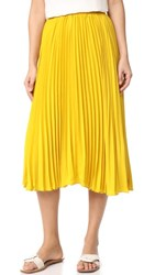 Endless Rose Pleated Long Skirt Honey Yellow