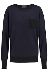 Current Elliott Charlotte Gainsbourg The Crew Two Tone Cashmere Sweater