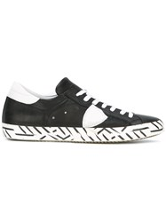 Philippe Model Printed Sole Sneakers Black