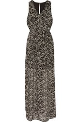 W118 By Walter Baker Printed Georgette Maxi Dress Black