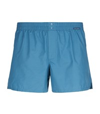 Dolce And Gabbana Poplin Lounge Shorts Male Blue