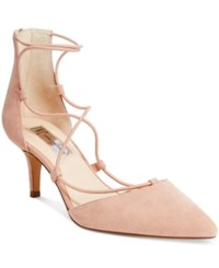Inc International Concepts Daree Lace Up Pumps Only At Macy's Women's Shoes Lychee