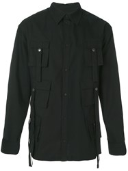 D.Gnak Flap Pocket Military Shirt Black