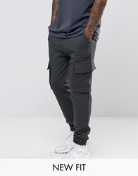 Asos Jogger With Woven Cargo Pockets And Taping Washed Black Brown