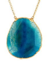 Janna Conner Damia Turquoise Agate Pendant Necklace No Color