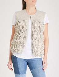 Mih Jeans Woodstock Knitted Gilet Stone
