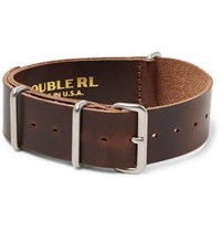 Rrl Burnished Leather Watch Strap Brown