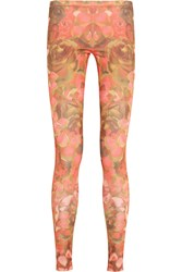 Mcq By Alexander Mcqueen Floral Print Satin Jersey Leggings Pink