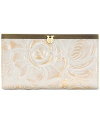Patricia Nash Tooled Cauchy Wallet White Gold
