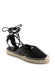 Jimmy Choo Darby Vac Leather Lace Up Espadrilles Tan Black