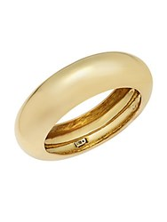 Alexis Bittar Goldtone Stainless Steel Bangle Bracelet