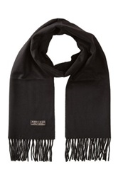 Amicale Cashmere Solid Scarf Black
