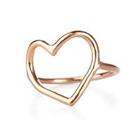 Chupi My Heart Is Open Ring Solid Gold