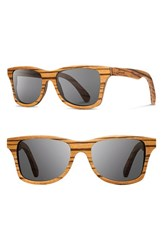 Shwood Men's 'Canby' 54Mm Polarized Wood Sunglasses Zebrawood Grey Zebrawood Grey