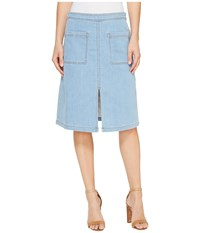 Splendid Indigo Patch Pocket Skirt Light Wash Blue