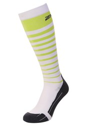 2Xu Sports Socks Lime Punch White