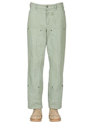 Jacquemus Wide Dyed Cotton Denim Jeans Green