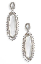 Kendra Scott Women's 'Kalina' Drop Earrings Ivory Mop Silver