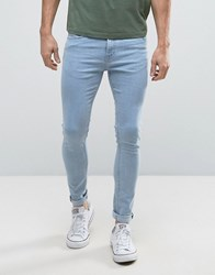 New Look Super Skinny Jeans In Light Wash Blue Light Blue