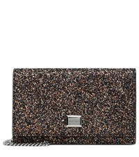 Jimmy Choo Lizzie Glitter Clutch Multicoloured