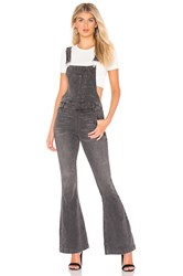 Free People Carly Flare Overall Black