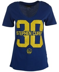 5Th And Ocean Women's Stephen Curry Golden State Warriors Sparkle T Shirt Royalblue