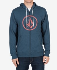 Volcom Men's Stone Zip Up Hoodie Air Force Blue
