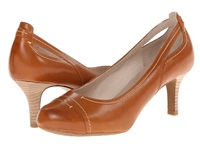 Rockport Seven To 7 65Mm Stitch Cap Toe Valigia Burn Calf High Heels Brown