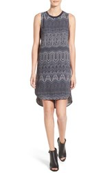 Trouve Women's Banded High Low Shift Dress