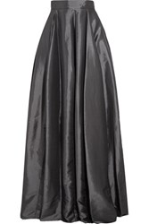 Halston Heritage Lame Maxi Skirt Charcoal