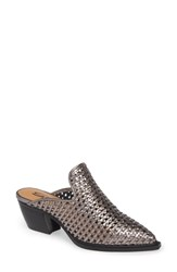 Sbicca Louise Woven Mule Pewter Leather