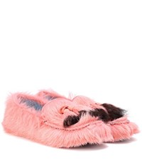 Prada Calf Hair Loafers Pink