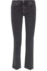 Mih Jeans M.I.H Daily Cropped High Rise Straight Leg Charcoal