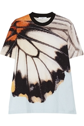 Givenchy Butterfly Print Cotton Jersey T Shirt
