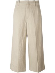 Vince Wide Legged Cropped Trousers Nude Neutrals