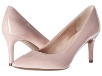 Rockport Total Motion 75Mm Pointy Toe Pump Pale Mauve Patent High Heels Beige
