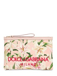 Dolce And Gabbana Lily Print Pouch Gigli Rosa