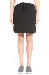 Women's Caslon French Terry Skirt Black