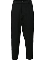Ziggy Chen Cropped Trousers Blue